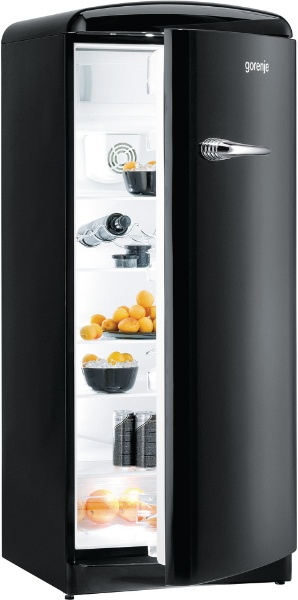Gorenje Retro Black Fridge NI