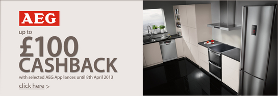 AEG Kitchen Appliances - Up To £100 Cashback!