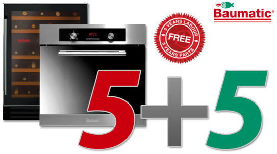 Baumatic 5 Year Warranty Promotion!