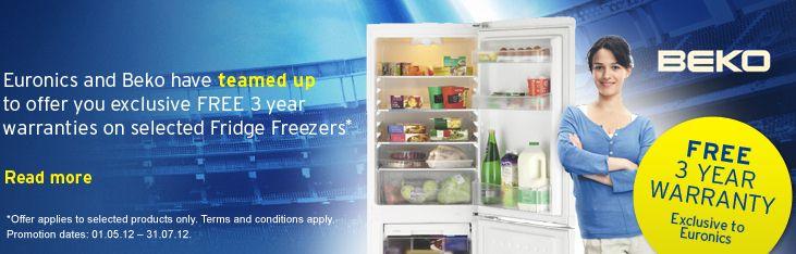 Beko 3 Year Refrigeration Warranty Promotion