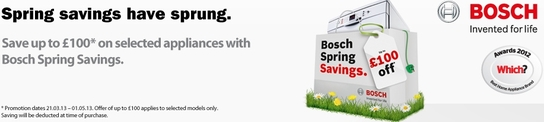 Bosch Kitchen Appliances Spring Sale!