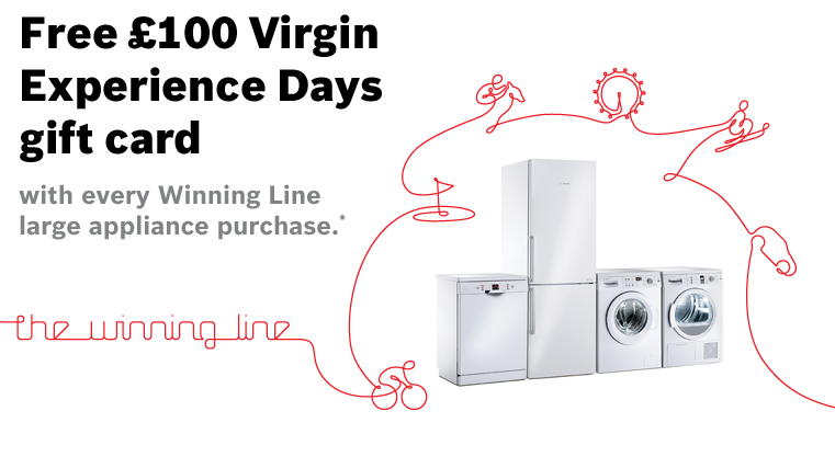 Bosch Kitchen Appliances Virgin Experience Gift Card Promotion