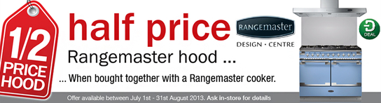 Buy Any Rangemaster Range Cooker - Get Half Price Cooker Hood!