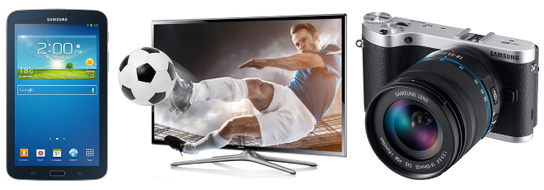 Free Samsung Gifts - Samsung Galaxy Tab 3, Samsung 32F6100 3D LED TV or Samsung NX300 Smart Camera