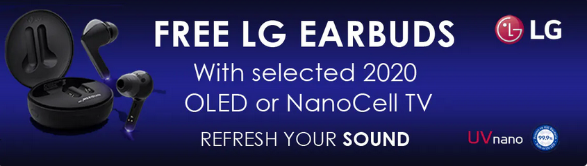 LG NanoCell and OLEG TVs - Free LG EarBuds!