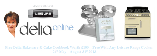 Leisure Range Cooker Promotion - Free Delia Bakeware & Cookbook!