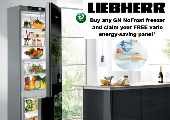 Liebherr Frost Free Freezer Promotion - Free Vario Plate!