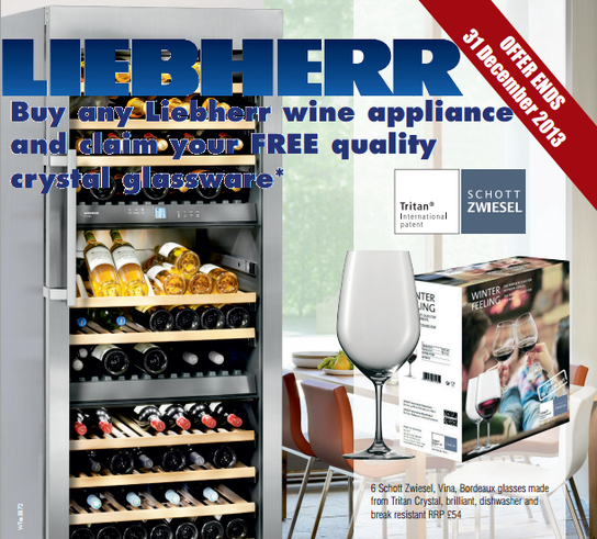 Liebherr Wine Fridge Promotion - Free Crystal Glassware!
