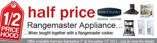 Rangemaster Promotion - Half Price Appliances!