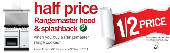 Rangemaster Range Cookers - Half Price Cooker Hood & Splashback!