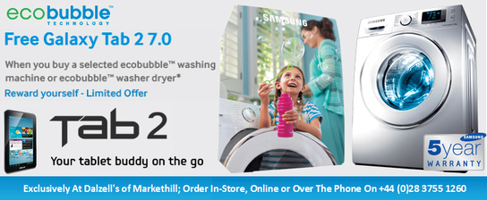 Samsung Ecobubble Promotion - Free Galaxy Tab 2 7.0!