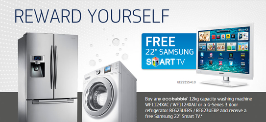 "Samsung Kitchen Appliances Promotion - Free 22"" Smart TV!"