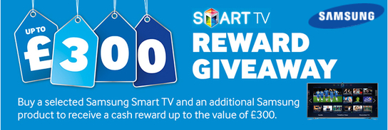 Samsung Smart TV Promotion - £300 Reward Giveaway!
