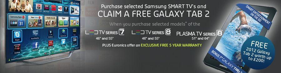 Samsung Smart TV Promotion - Free Galaxy 2 Tablet