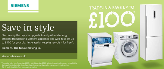 Siemens Kitchen Appliances - Trade-in & Save Up To £100