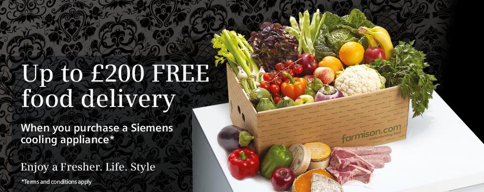 Siemens Refrigeration Promotion – £200 Gourmet Food!