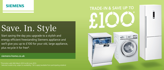 Siemens Trade In Promotion - Save Up To £100!