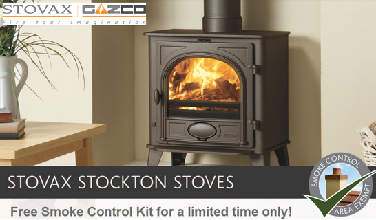 Stovax Stockton Stoves Promotion - Free Smoke Control Kit!
