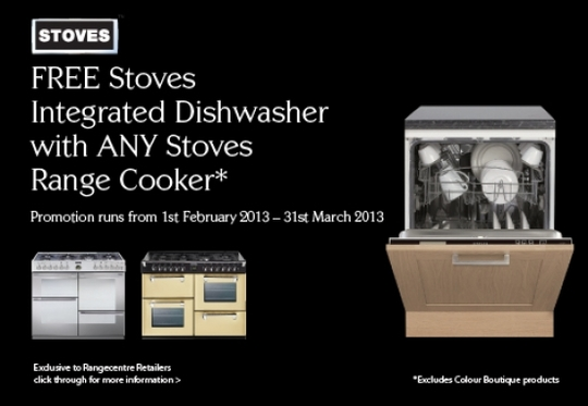 Stoves Range Cooker Promotion - Free Dishwasher!