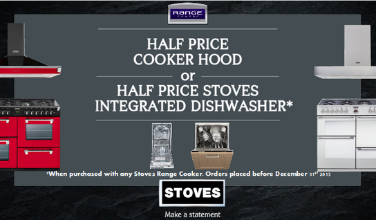Stoves Range Cooker Promotion - Half Price Cooker Hood Or Dishwasher!