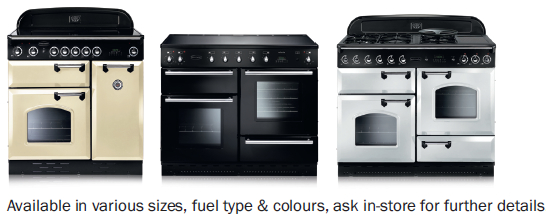 The Rangemaster Classic and Rangemaster Toledo Range Cookers