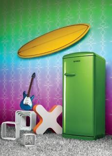 Gorenje Ambient Retro Funky Lime Refrigerators NI