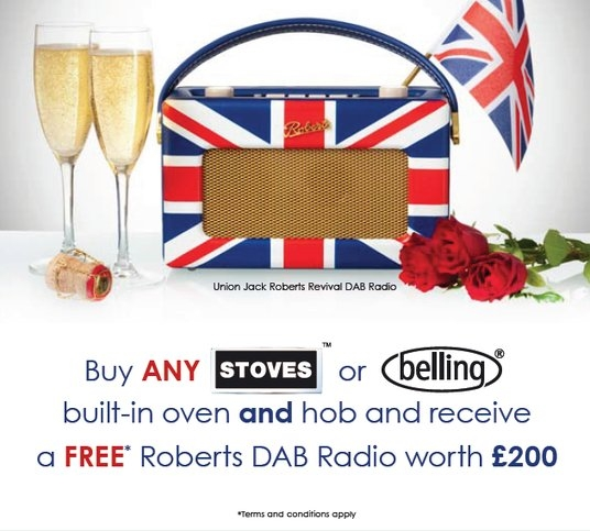 Belling | Stoves Oven and Hob Promotion - Free Roberts Revieval DAB Radio