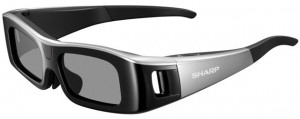 Sharp Quattron 3D TV Glasses