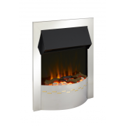 Dimplex Ellister Chrome Optiflame Electric Inset Fire