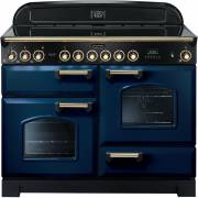 Rangemaster CDL110ECRB/B - 110cm Classic Deluxe Electric Ceramic Regal Blue/Brass Range Cooker 114140