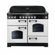 Rangemaster CDL110ECWH/C - 110cm Classic Deluxe Electric Ceramic White/Chrome Range Cooker 114150