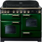 Rangemaster CDL110EIRG/B - 110cm Classic Deluxe Electric Induction Racing Green/Brass Range Cooker 113080