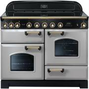 Rangemaster CDL110EIRP/B - 110cm Classic Deluxe Electric Induction Royal Pearl/Brass Range Cooker 114560