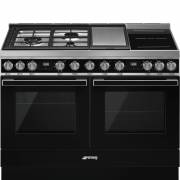 Smeg CPF120IGMPBL - 120cm Portofino Aesthetic Dual Cavity Cooker with Mixed Fuel Hob