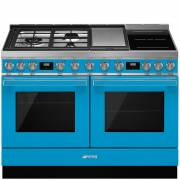 Smeg-CPF120IGMPT -120cm-Portofino-Aesthetic-Dual-Cavity-Cooker-with-Mixed-Fuel-Hob