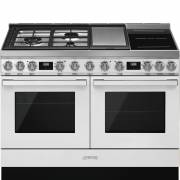 Smeg CPF120IGMPWH - 120cm Portofino Aesthetic Dual Cavity Cooker with Mixed Fuel Hob