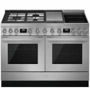 Smeg CPF120IGMPX - 120cm Portofino Aesthetic Dual Cavity Cooker with Mixed Fuel Hob