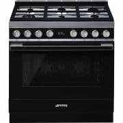 Smeg CPF9GPBL - 90cm Portofino Aesthetic Cooker with Pyrolytic Multifunction Oven and Gas Hob