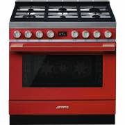 Smeg CPF9GPR - 90cm Portofino Aesthetic Cooker with Pyrolytic Multifunction Oven and Gas Hob