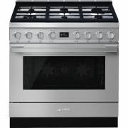 Smeg CPF9GPX - 90cm Portofino Aesthetic Cooker with Pyrolytic Multifunction Oven and Gas Hob