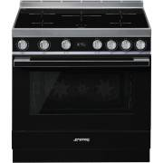 Smeg CPF9IPBL - 90cm Portofino Aesthetic Cooker with Pyrolytic Multifunction Oven and Induction Hob