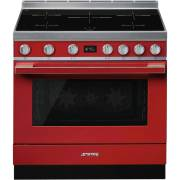 Smeg CPF9IPR - 90cm Portofino Aesthetic Cooker with Pyrolytic Multifunction Oven and Induction Hob