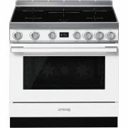 Smeg CPF9IPWH - 90cm Portofino Aesthetic Cooker with Pyrolytic Multifunction Oven and Induction Hob