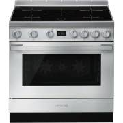 Smeg CPF9IPX - 90cm Portofino Aesthetic Cooker with Pyrolytic Multifunction Oven and Induction Hob