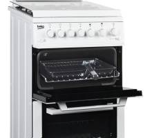 Beko BCDVG505W 60cm Gas Double Oven Cooker - White