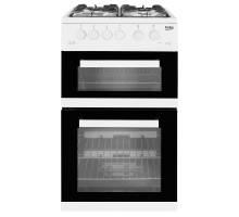 Beko KDG582W Twin Cavity Gas Cooker
