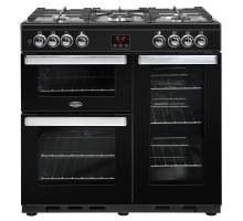 Belling Cookcentre 90DFTBLK Dual Fuel Range Cooker