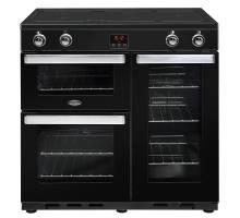 Belling Cookcentre 90EiBLK Electric Induction Range Cooker