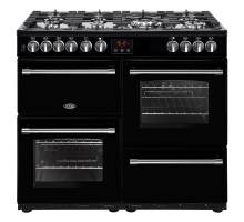 Belling Farmhouse FH100DFTBK Dual Fuel Range Cooker