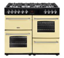 Belling Farmhouse FH100DFTCR Dual Fuel Range Cooker